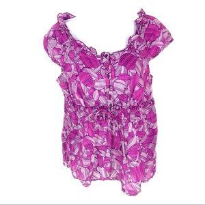 Liz Lange Maternity Purple Top S